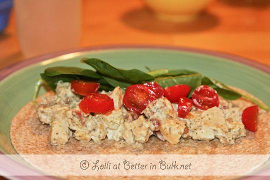 pesto chicken salad wrap