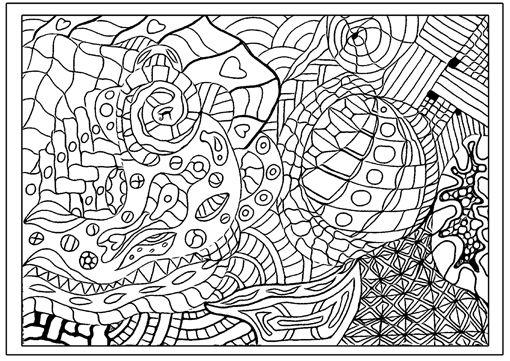 Ausmalbild: Zentangle-Muster | kendin yap | Pinterest | Zentangle ...