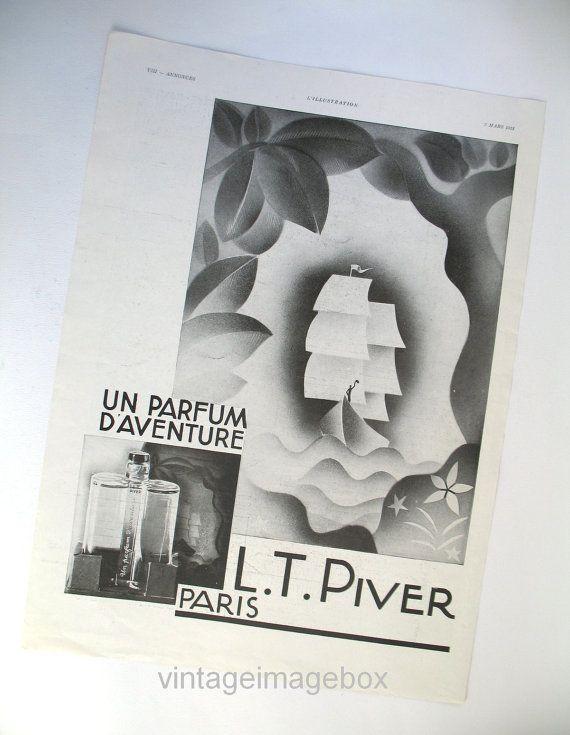 L T Piver Un Parfum d\'Aventure perfume advert 1931 vintage French ad ...