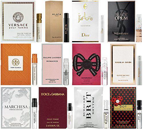 cool Designer Fragrance Samples for Women - Lot of 12 Perfume Vials