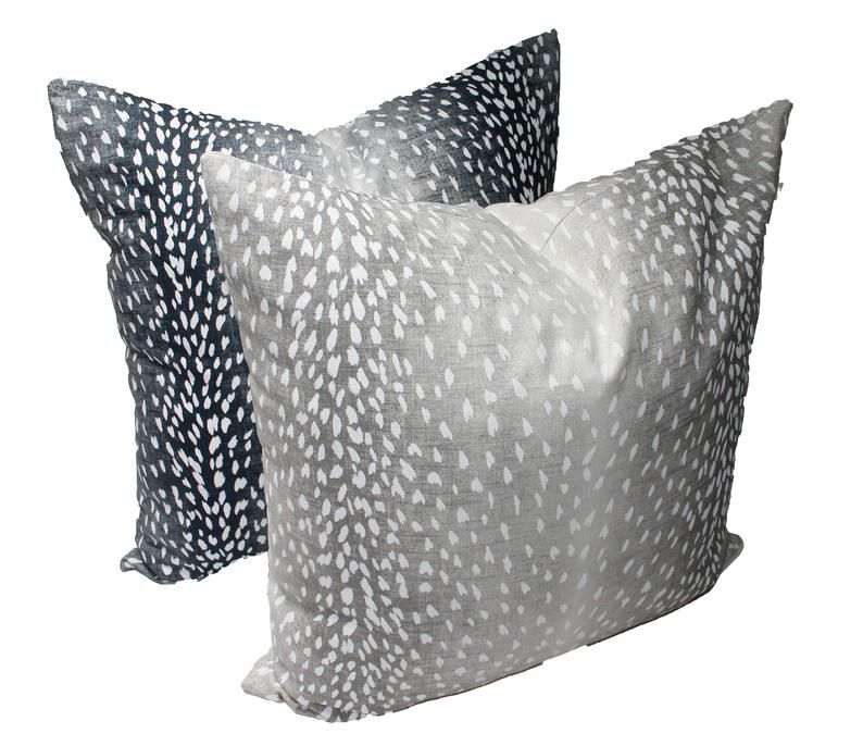 Navy Ombre Animal Print Pillow Cover