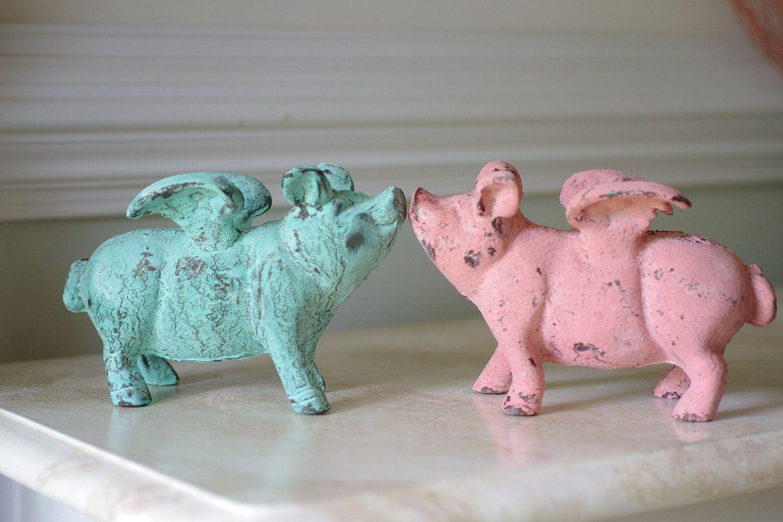 Flying Pigs Flying Pig Pig Decor Pig Kitchen Decor