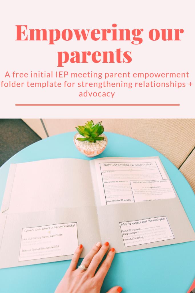Empowering Parents In Special Education >> Parent Empowerment Folder I Teach Sped Teacher Dress Code