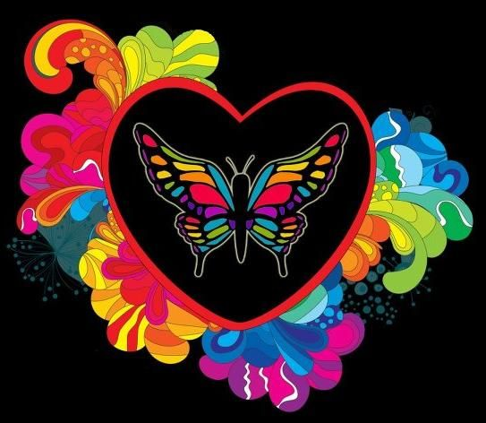 butterfly heart   Butterfly art, Butterfly coloring page ...