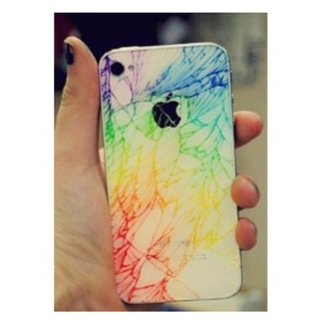 When Iphone Cracks Color Cracks With Highlighter So Cool Iphone Cool Phone Cases Iphone Cases