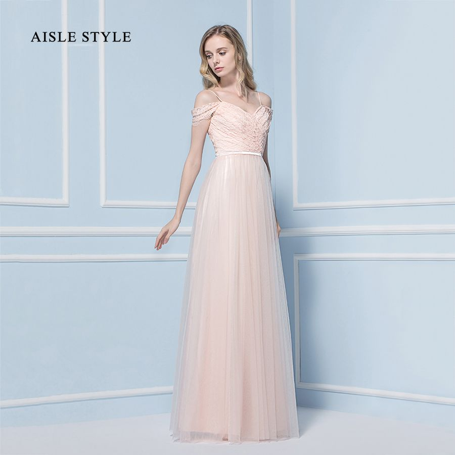 Aisle style 2017 new blush bridesmaid dresses vintage lace top a aisle style 2017 new blush bridesmaid dresses vintage lace top a line long tulle pink ombrellifo Image collections