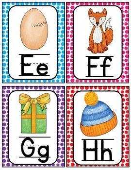 Alphabet Word Wall Cards & ABC Chart | Flash | Alphabet