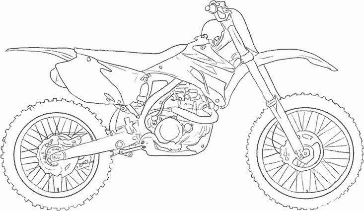 Coloriage De Moto Cross A Imprimer Ausmalbilder Ausmalen Bilder