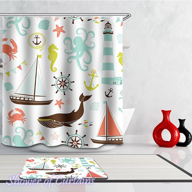 The Curtain Port Shower Curtain Hxtc0031 In 2020 Cozy Bathroom