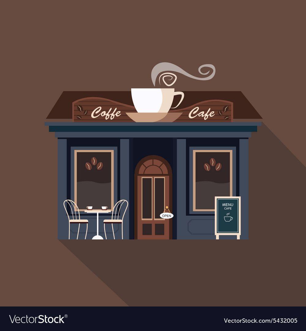 Image result for coffee shop storefront illustration