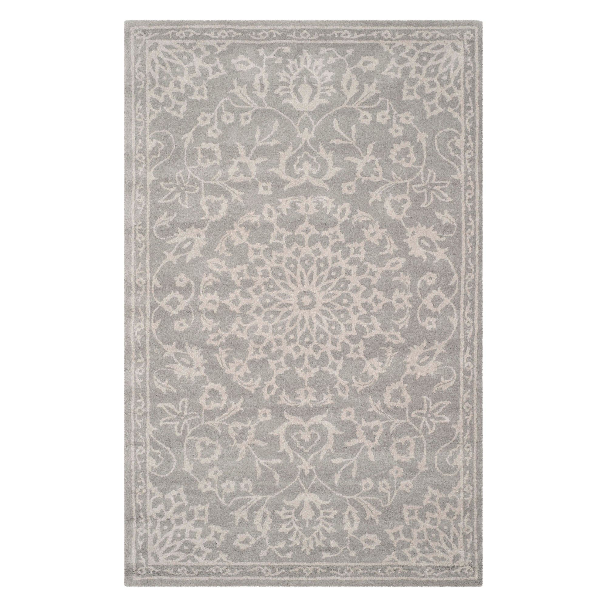 6 X9 Medallion Area Rug Gray Silver Safavieh Gray Silver In 2019 Products Rugs Area Rugs Contemporary Style