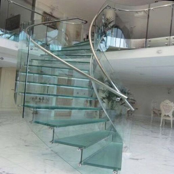 Best Curved Tempered Glass In 2020 Glass Stairs Design 640 x 480