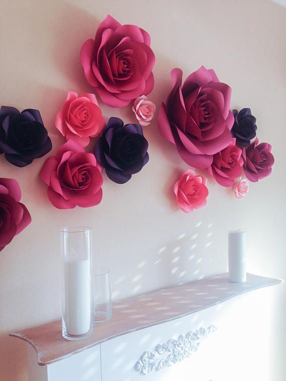 Luxury paper flowers wedding decorations wall decor large flower pinterest also rh