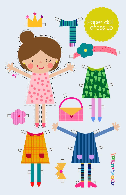 Paper doll dress up / Toy for kids / Gift for kids de KarenThaco en Etsy