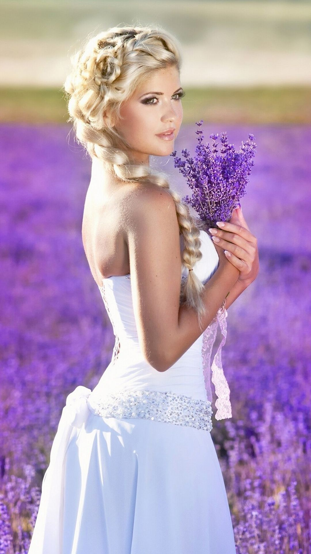 e44ebb42929 Beautiful Girl on Lavender Field - http   helpyourselfimages.com portfolio