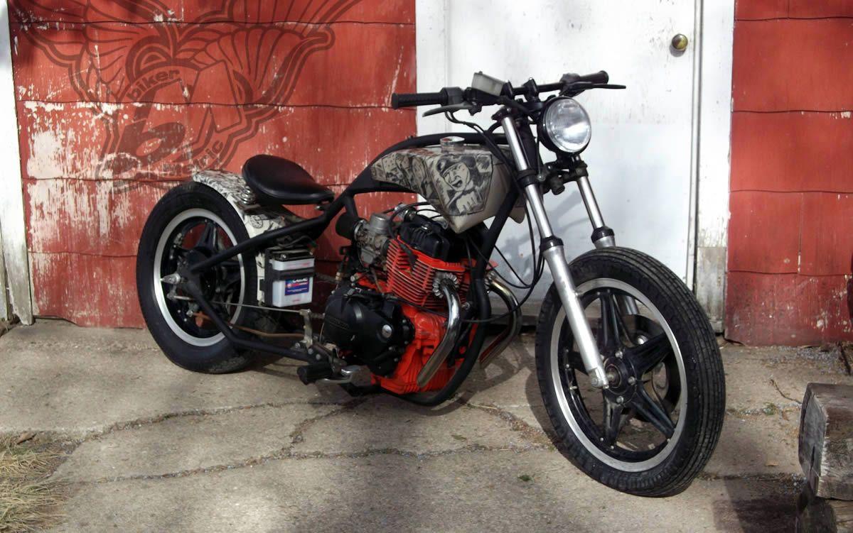 custom honda cm400t bobber bobber pinterest bobbers honda