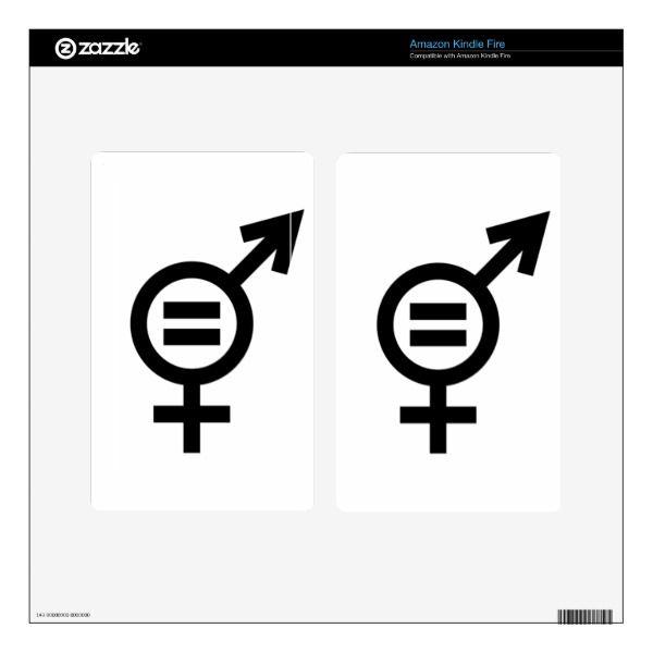 Gender Equality Symbol Skins For Kindle Fire Custom Brandable