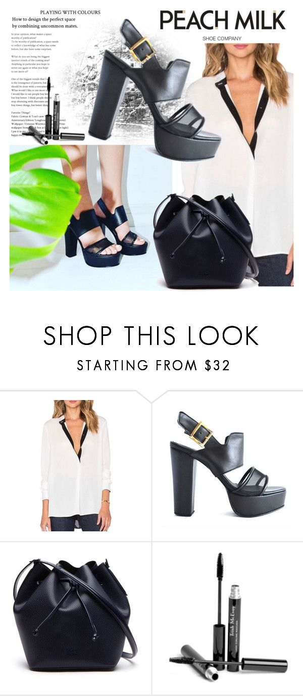 """PEACH MILK 5"" by gaby-mil ❤ liked on Polyvore featuring Lacoste, Trish McEvoy, Shoe and peachmilk"