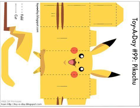 DIY Printable -Paper Box Pocket Monster Pikachu Cards Valentine