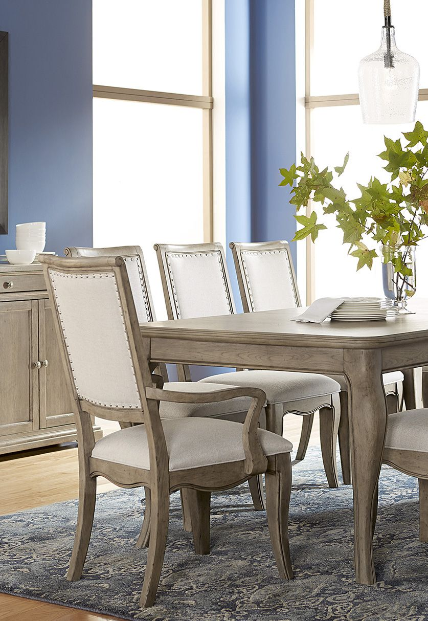 The Martha Living Bergen Dining Collection Created For Macy S Features An Expandable Table To Fit 4 Or 6 Chairs Upholstered Side And Armchairs