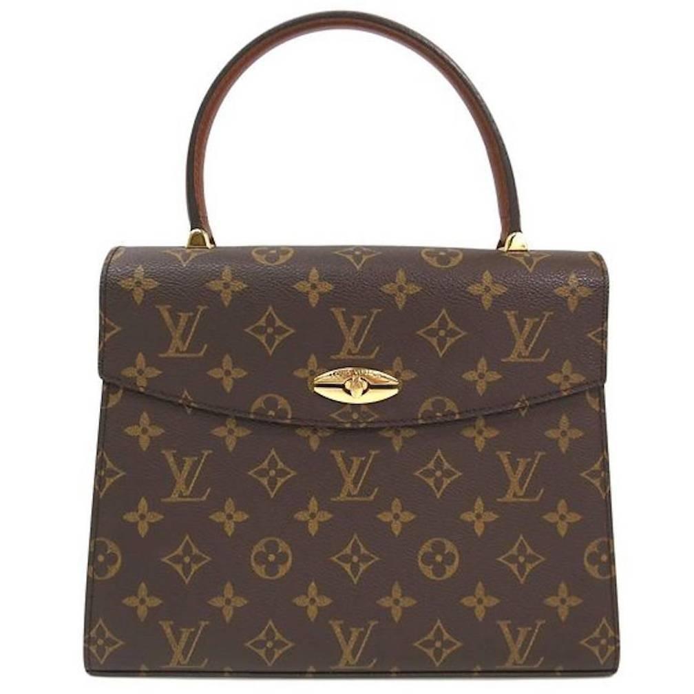 Louis Vuitton Vintage Kelly Style Gold Evening Top Handle Satchel Bag Satchel Bags Vintage Louis Vuitton Louis Vuitton