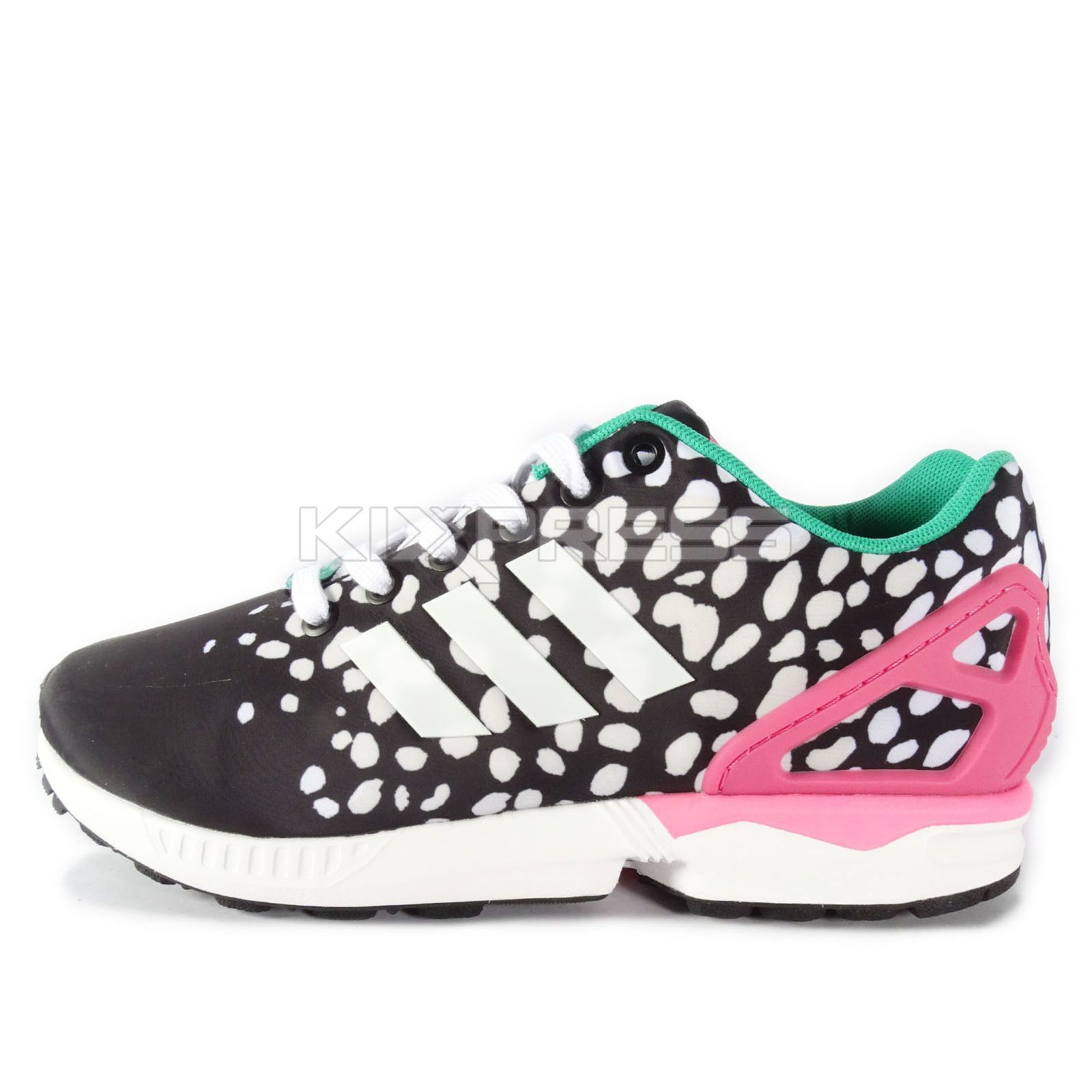 Adidas Zx Flux W [M19455] Original Running BlackPink Green