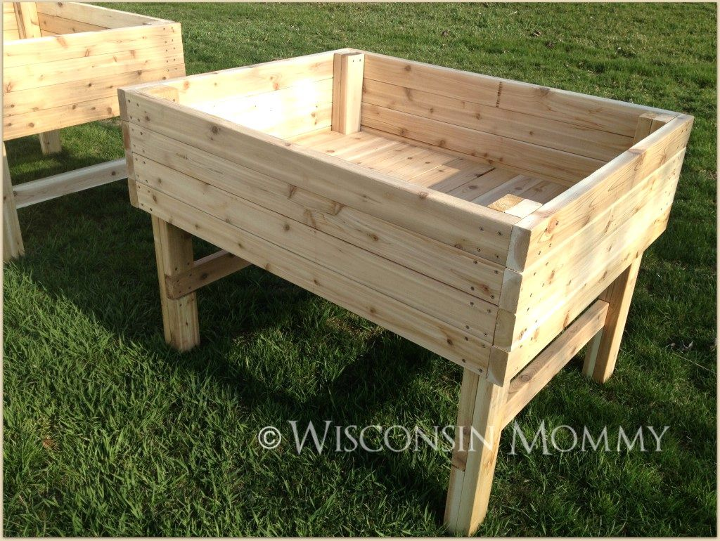 Building raised garden beds on legs gardening archives for Raised bed garden designs plans