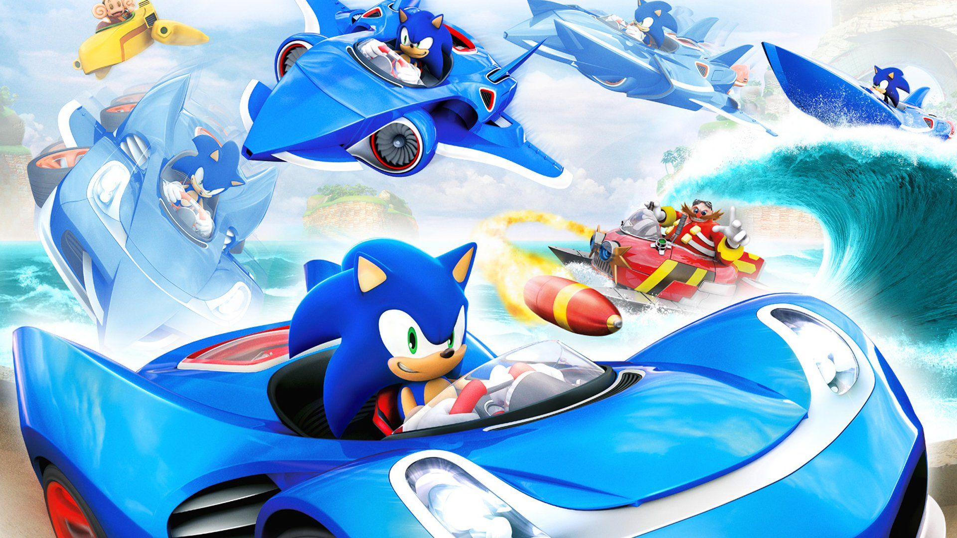 Video Game Sonic All Stars Racing Transformed Wallpaper Sonic The Hedgehog Sonic Racing Games