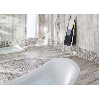 Carrelage castel patchwork gris 30 x 60 cm carrelage for Carrelage adhesif salle de bain avec grossiste de led