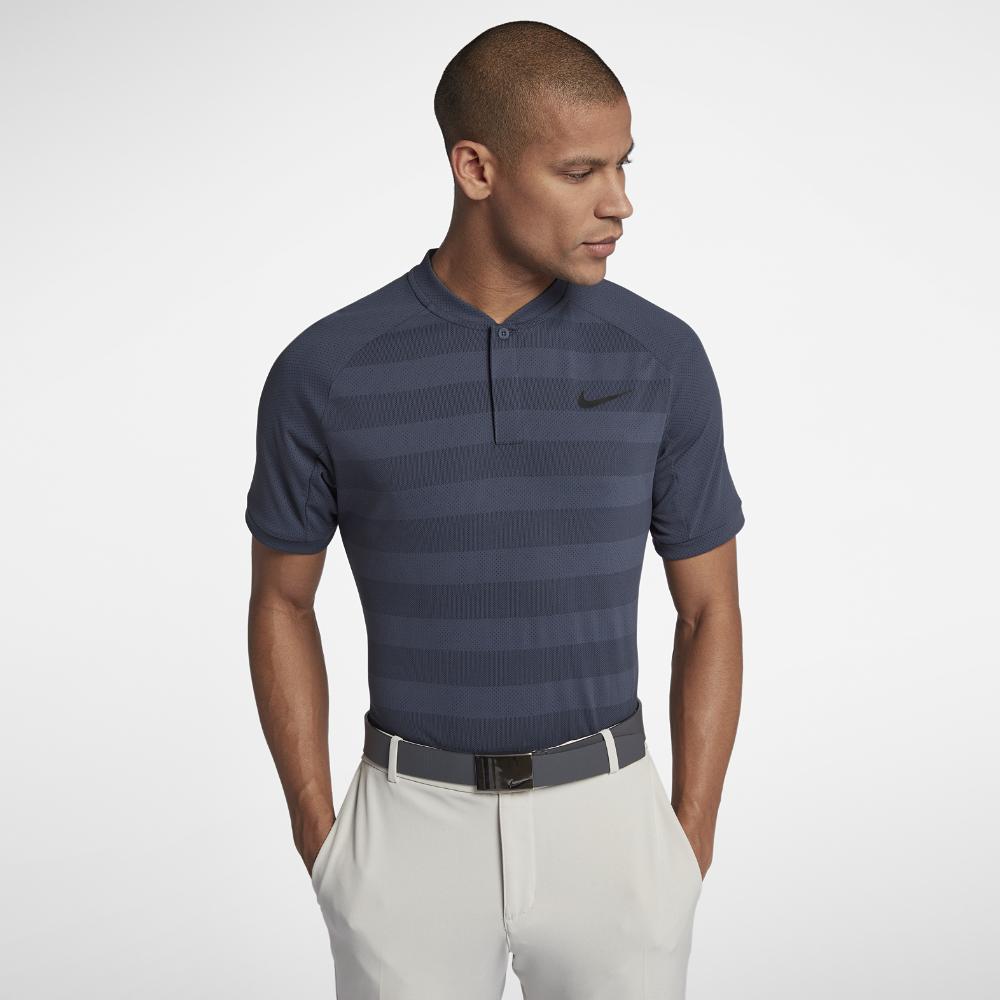 47a74ce470 Nike Zonal Cooling Momentum Men's Slim Fit Golf Polo Shirt Size Medium (Blue )