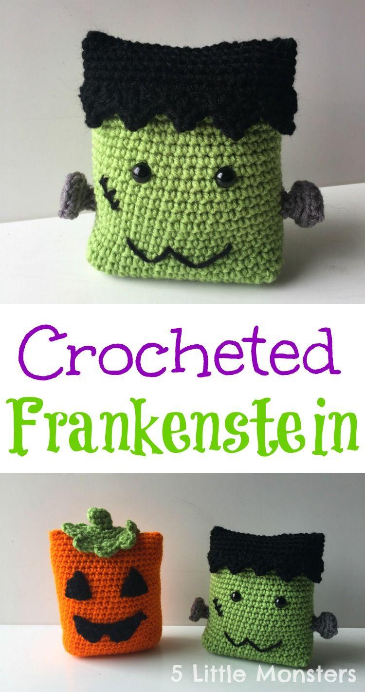 5 Little Monsters: Frankenstein | tejidos | Pinterest | Tejido ...