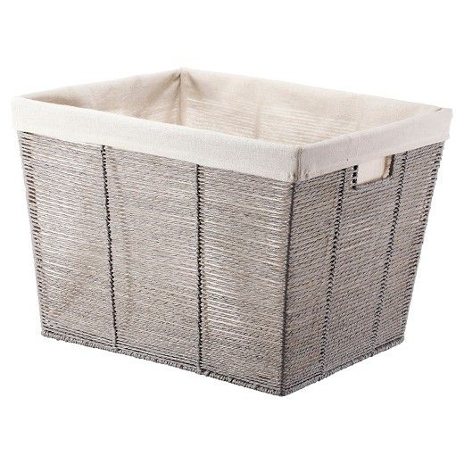 Rectangular Twisted Paper Rope Laundry Basket Gray Threshold With Images Laundry Basket Rectangular Plastic Laundry Basket