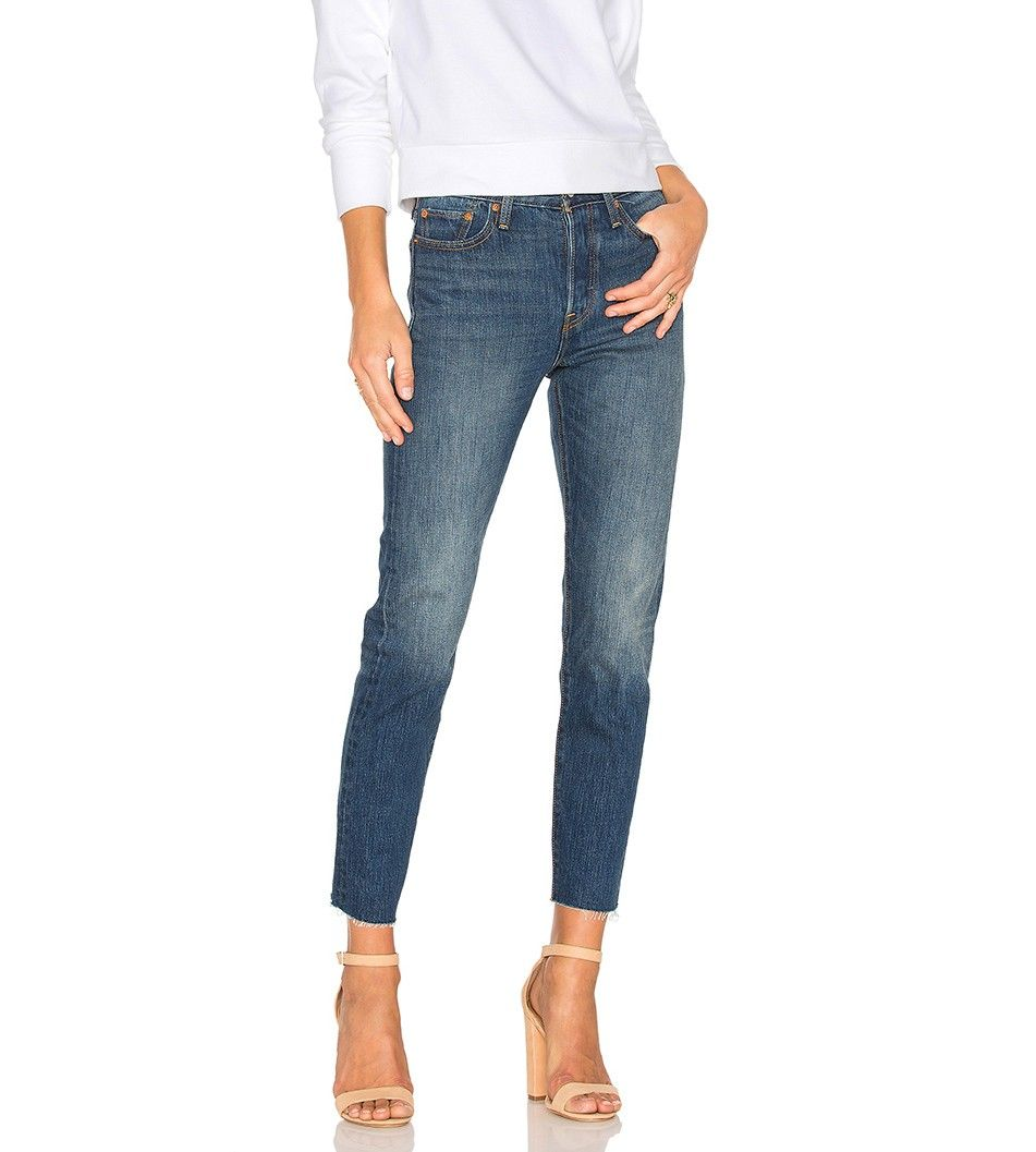 "This ""Ugly"" Denim Trend Is Officially Bigger Than Ever via @WhoWhatWear     Levi's Wedgie Skinny Jeans $88"