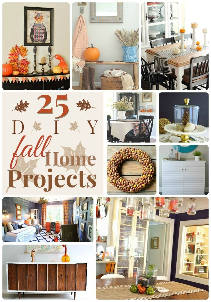 25 DIY Fall Home Projects!! -- Tatertots and Jello #DIY #Fall #Homedecor