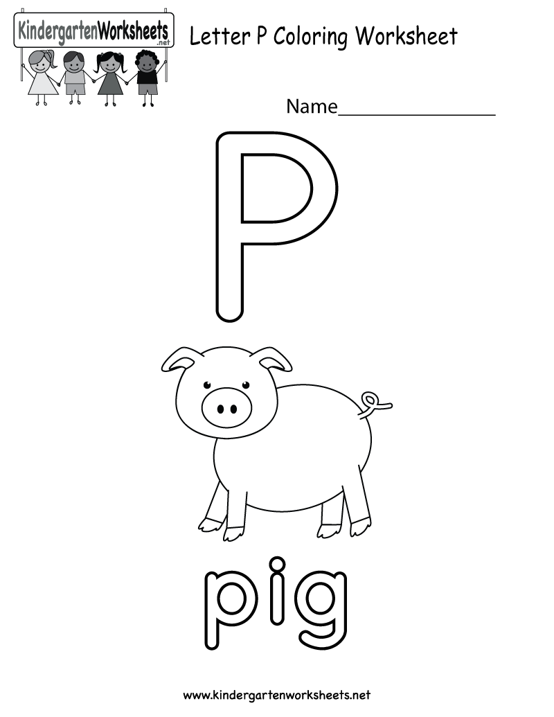 Letter P Coloring Worksheet For Preschoolers Or Kindergarteners This Would Be A Fun English Worksheets For Kids Color Worksheets Printable Alphabet Worksheets [ 1035 x 800 Pixel ]