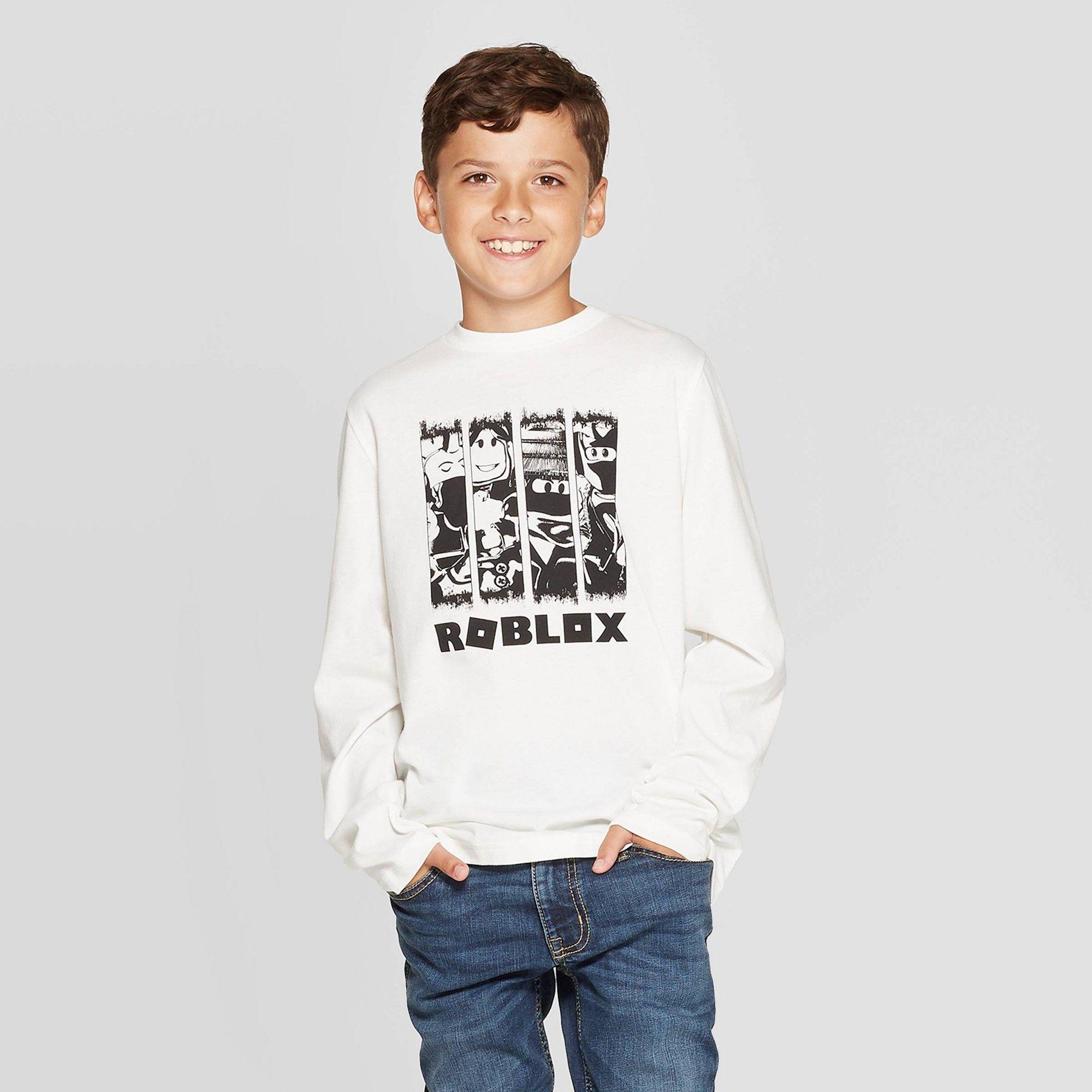 Boys Roblox Long Sleeve T Shirt White Xl Boy S White Long Sleeve Shirts White Shirts Blue [ 2000 x 2000 Pixel ]