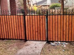 Image Result For Add Wood To Wrought Iron Fence With Images