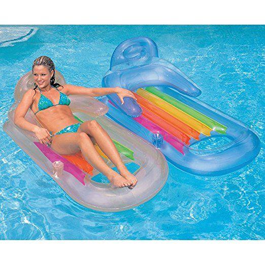 Intex 58802 Luftmatratze King Kool Lounge 160 X 85 Cm Farblich Sortiert Liegluftmatratze Von Intex Masse 160 Schwimmbad Spielzeug Swimming Pool Pool