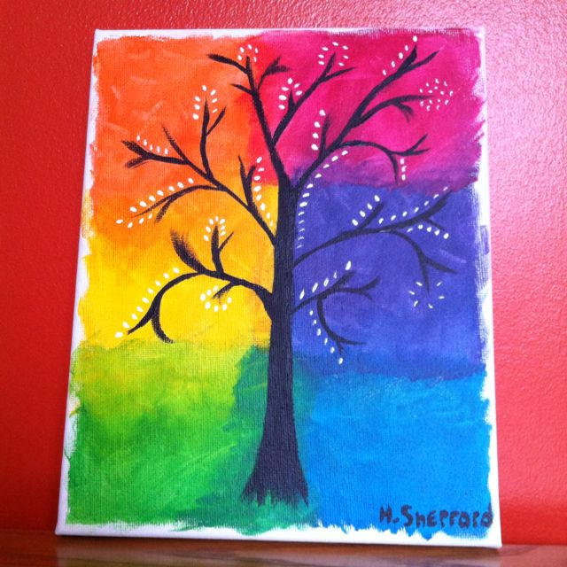 Painting Of A Tree Diy Canvas