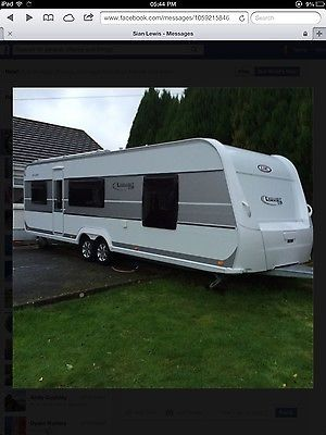 LMC 695 VIP Exquisit 2014 Touring Caravan: £17,500 00 End Date