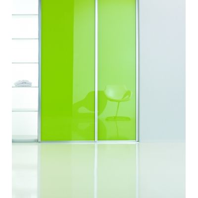 Porte Coulissante En Verre Laqu Brillant Vert Fluo  Porte