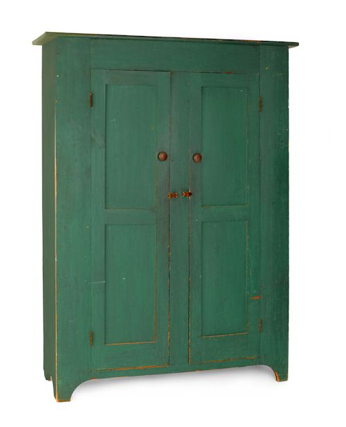Best New Jersey Painted Pine Wall Cupboard Ca 1830 With Two 400 x 300