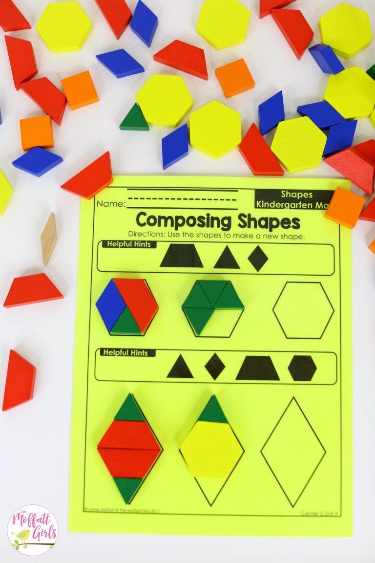 Kindergarten Math Curriculum Shapes Math Pinterest