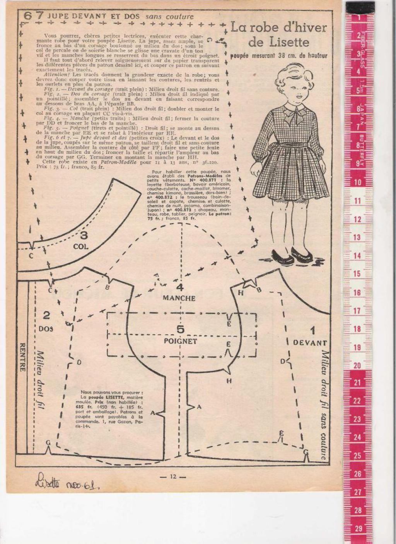 PAR AMOUR DES POUPEES :: 1961-11 Robe pour Lisette | Muñecas ...