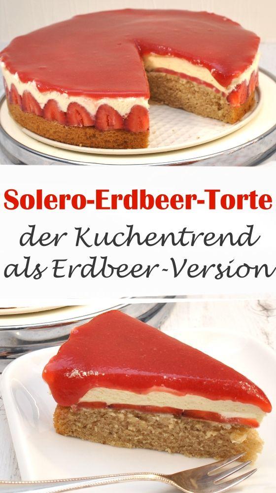 Photo of Jordbær-krem-kake. Den deilige tvilling av Solero-kaken!