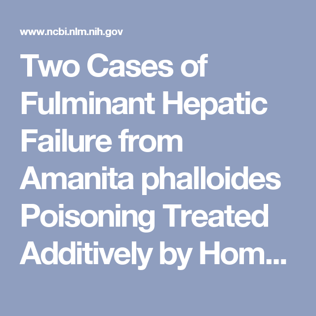 Two Cases of Fulminant Hepatic Failure from Amanita phalloides