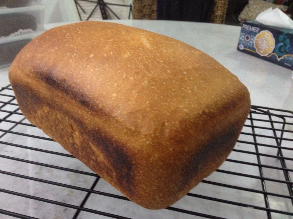 Simple homemade white bread. 500 grams all purpose flour ...