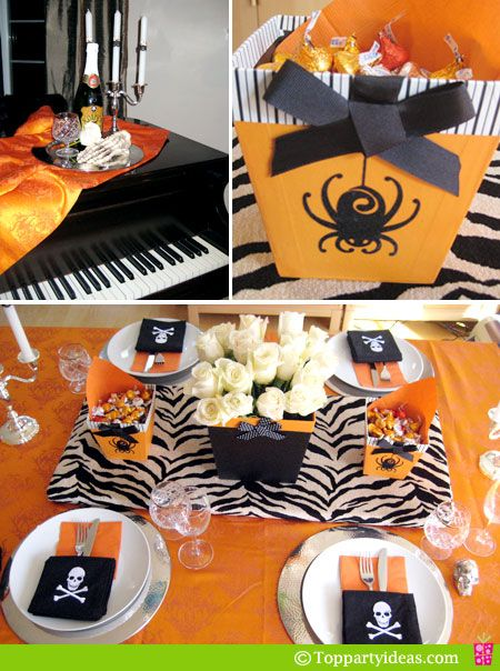 Elegant Party Decoration Ideas   Halloween Table Dinner Setting ...