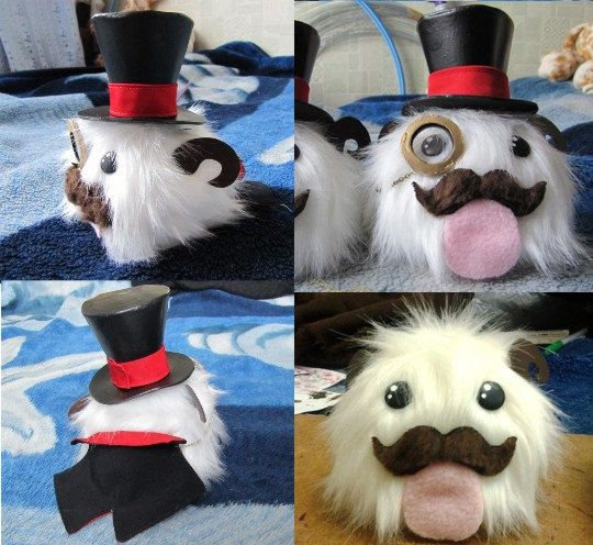 Cute plush Gentleman Poro or only with Mustache