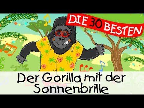 Der Gorilla Mit Der Sonnenbrille Partylieder Zum Mitsingen Und Bewegen Kinderlieder Youtube Gorilla Mit Der Sonnenbrille Kinderlieder Kinder Lied
